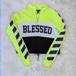 Blessed Color Block Top